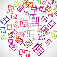 abstract background: calculator