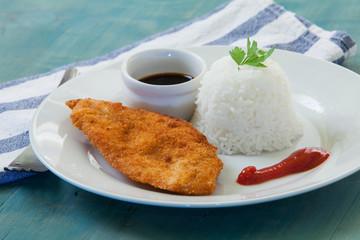 chicken on plate