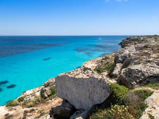 Sea near Bue Marino Beach, Favignana Island, Sicily, Italy