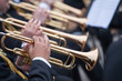 musicians are playing on trumpets - 75092859