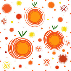 Abstract Mandarine Seamless Pattern
