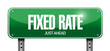 fixed rate sign illustration design