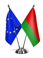 EU and Belarus - Miniature Flags.