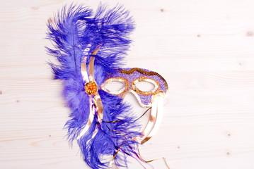 beautiful mask of feathers light board