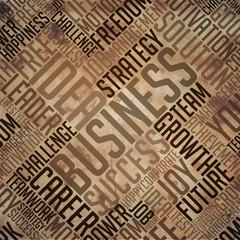 Business- Grunge Brown Word Collage.