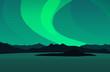 Northern Lights, Vector Landscape Illustration - 75095665