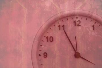 Composite image of clock