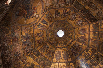 Day of Judgement Byzantine Mosaic - Florence Baptistery Cupola