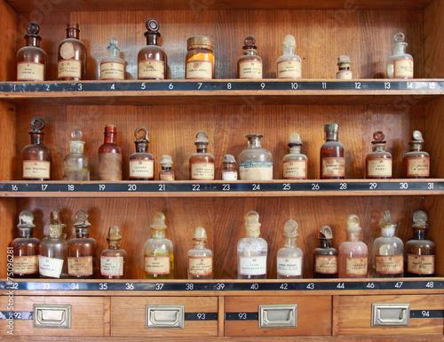 Leinwanddruck Bild medicamentos antiguos farmacia 7226-f14