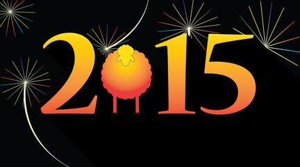 Happy new year 2015 sheep