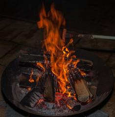 Lagerfeuer - Feuer - Feuerkorb