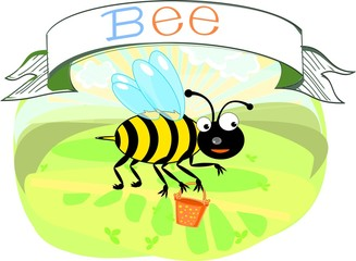 Bee with title