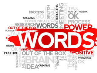 WORDS. Word business collage, vector background
