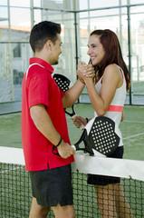 Paddle tennis couple fair play