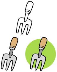 Gardening Tool--Gardeners Hand Fork. Collection Set