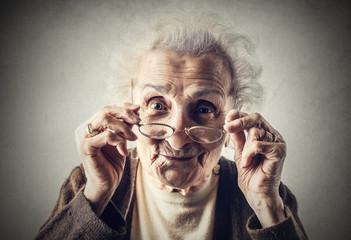 A cute grandma