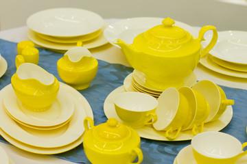 beautiful yellow dishes