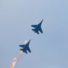 Military jet planes launches anti-missile