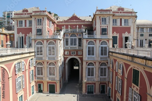 Leinwanddruck Bild Palazzo Reale Genova