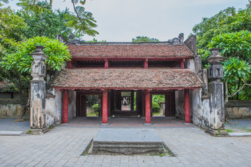 the gate of prince palace in Honoi Vietnam