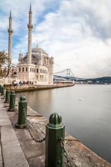 Ortakoy Mosque with Bosphorus bridge - Istanbul