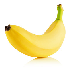 tasty banana isolated on the white background