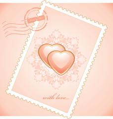 Valentines postage stamp