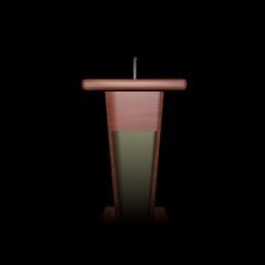 Podium for speaker