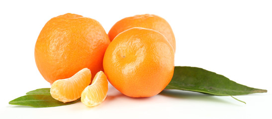 Tasty mandarins isolated on white