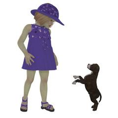 Eliza and Staffordshire Puppy