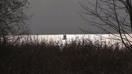 Angler im Boot auf dem See