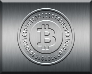Silver Bitcoin Plate