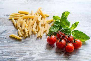 cherry tomato with pasta