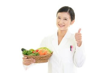 笑顔の栄養士