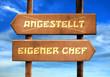 Strassenschild 29 - Eigener Chef