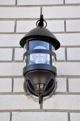 Front view of a wall lamp
