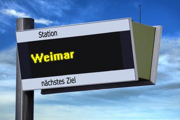 Anzeigetafel 5 - Weimar