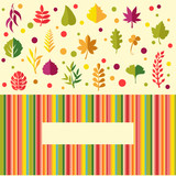colorful leaves in flat design