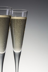 cold champagne glasses