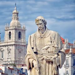 Statue of Sao Vicente in Lisbon, Portugal