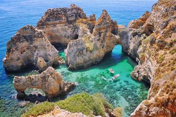 Ponta da Piedade - famous rocks in the ocean in Lagos, Algrave