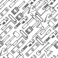 Monochrome vector background for hand tools