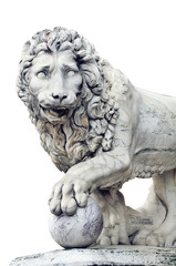 Isolated figure of Lion located in Florence