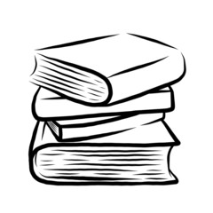 stack of four books