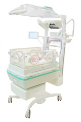 infant incubator isolated under the white background