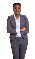 Dynamische Geschäftsfrau aus Afrika