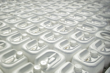 plastic containers of pesticides for agriculture
