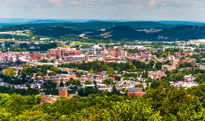 View of York, Pennsylvania, from Top of the World.