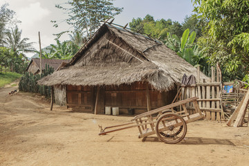 typical house in north laos