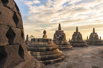 Buddist temple Borobudur  Yogyakarta, Java, Indonesia.